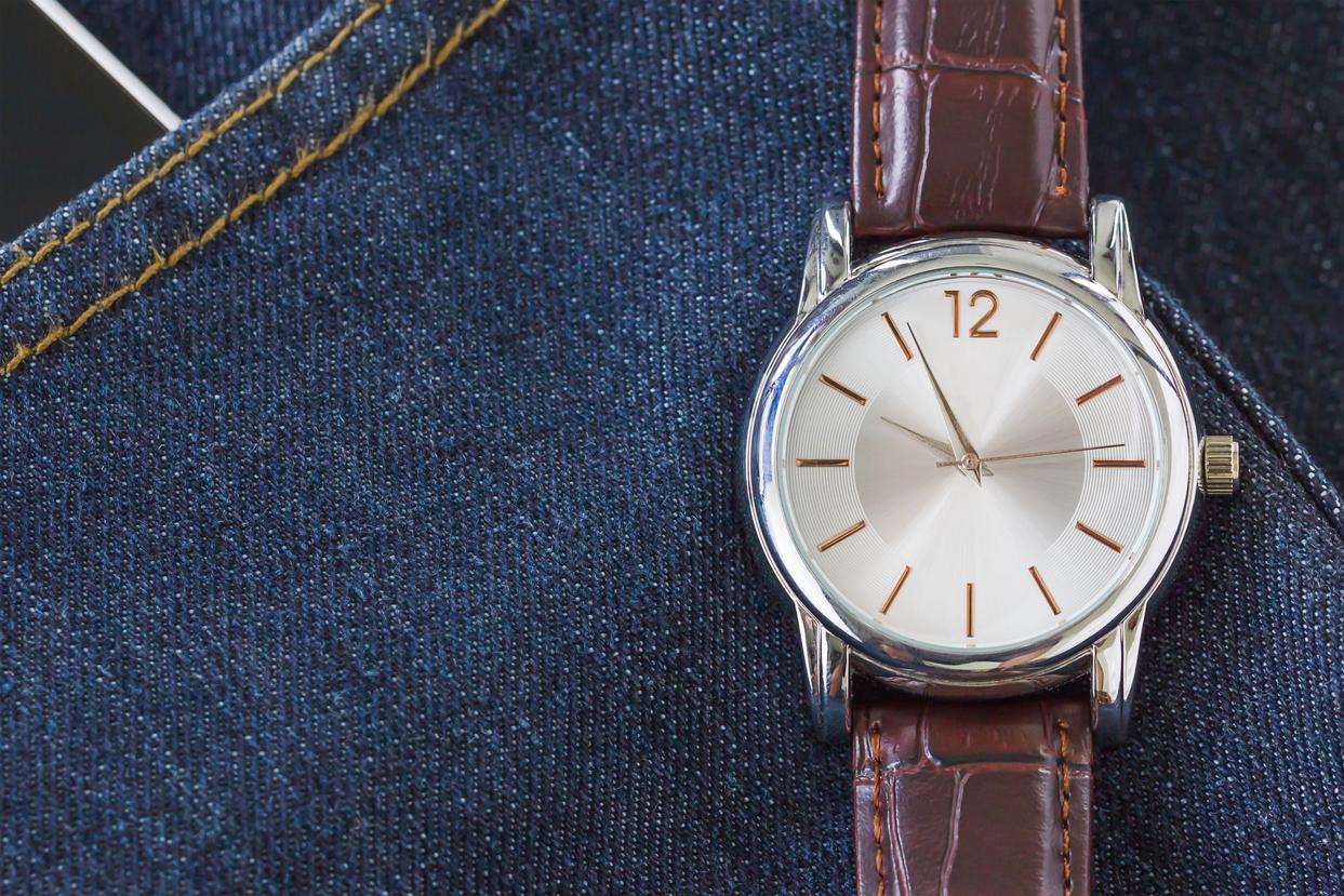 Zegarek z szkłem mineralnym